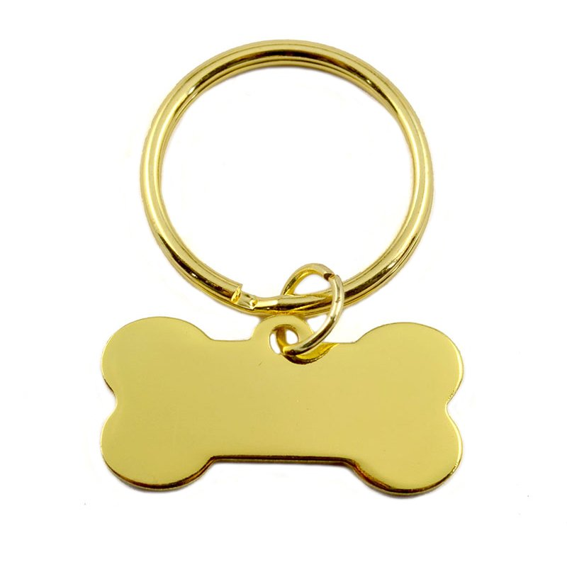 Custom Big O Key Ring Dog Tag Keychain Metal Gold Key Chain