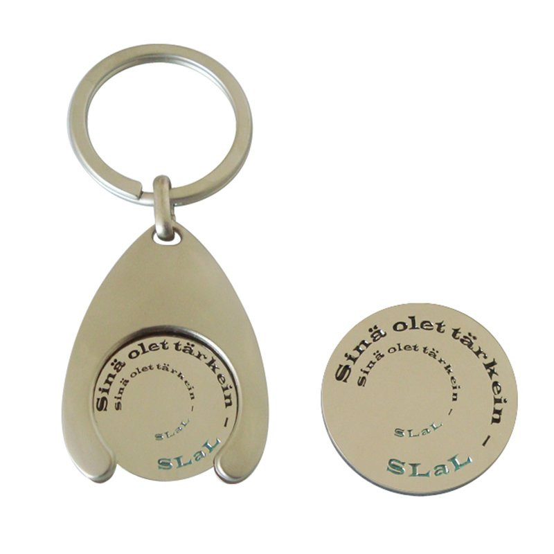 Keychain Accessories Custom Metal Trolley Coin Key Chains