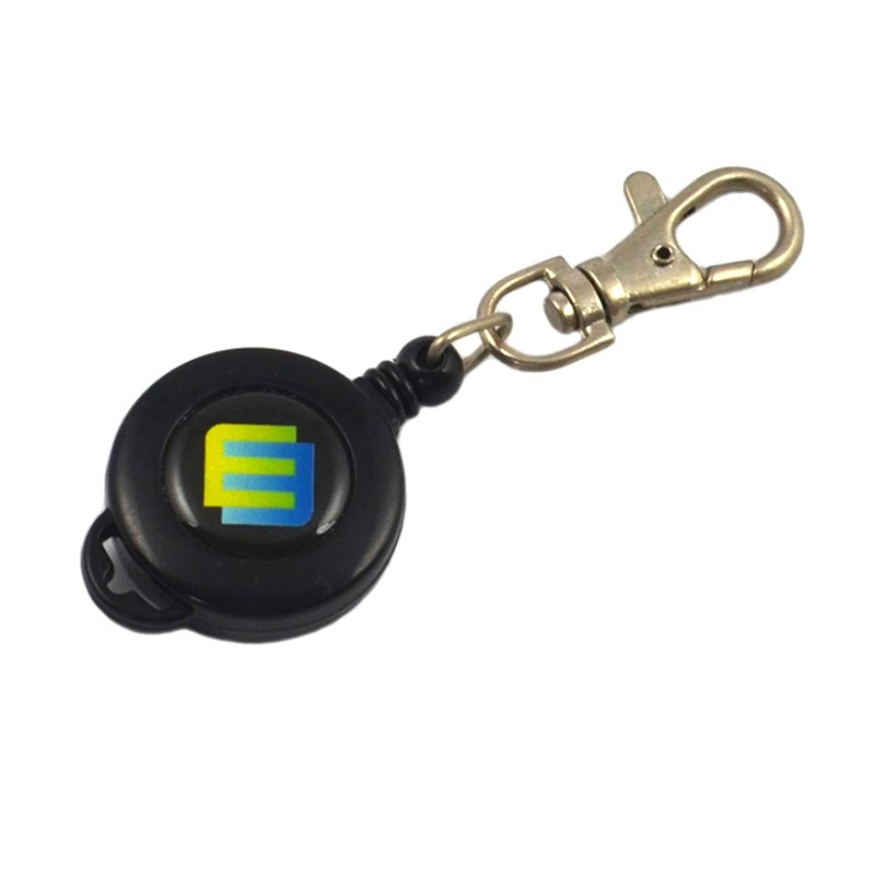 Custom Id Holder Keychain Personalized Retractable Key Chain