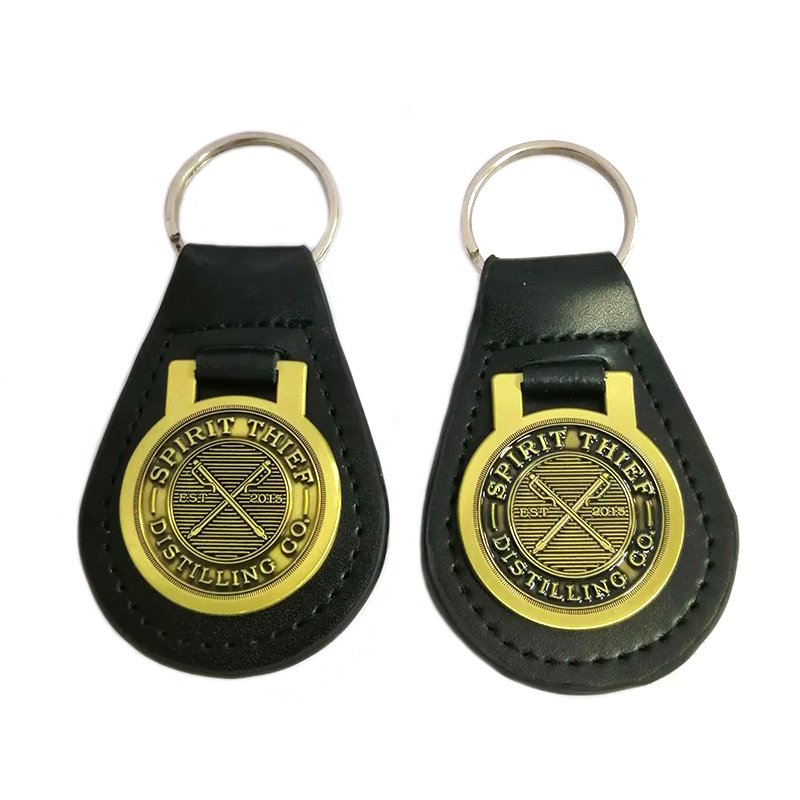 Personalised Leather Keyring Custom Metal And Leather Keychains