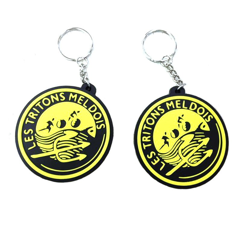 Keyring Rings Soft Pvc Keychain Custom Made Rubber Key Chains