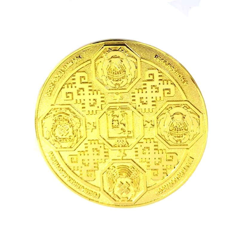 Custom Gold Dollar Coin Stamping Double Side 2D Metal Coin