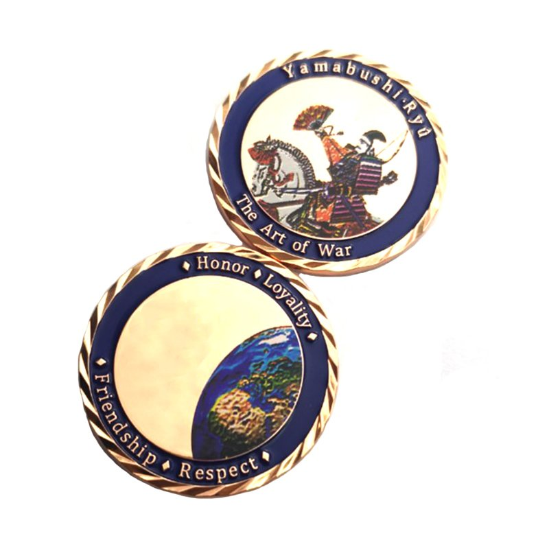 Decorative Coin Printed Custom Logo Metal Double Side Coin