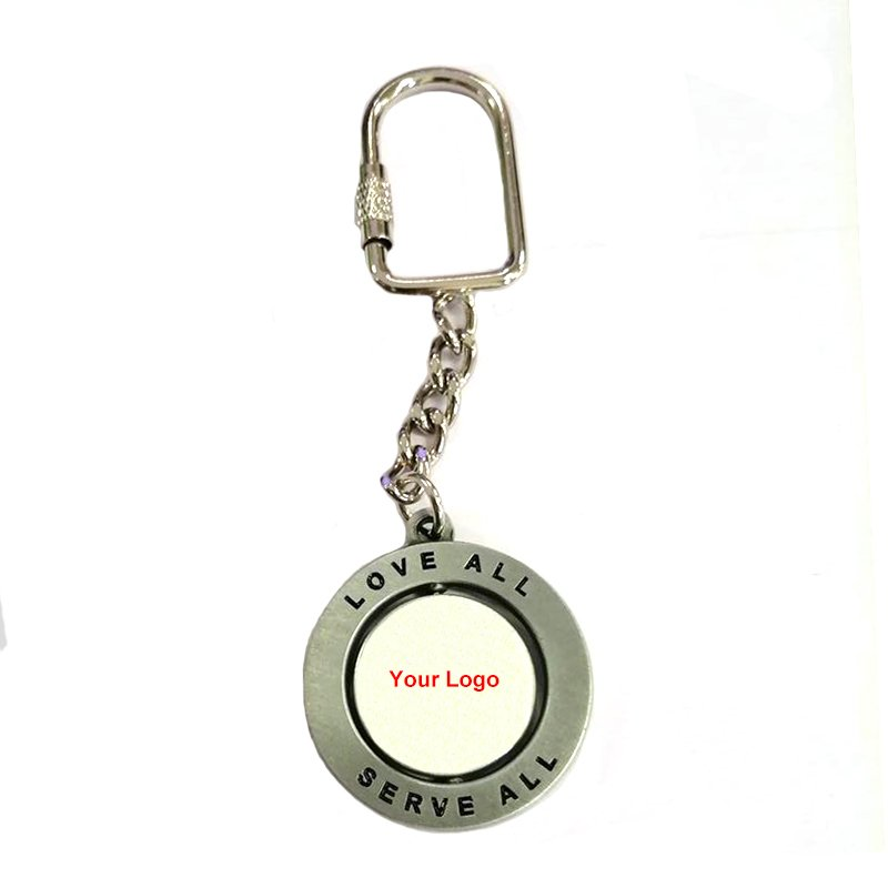 Factory Custom Made Engraved Metal Key Ring Key Chain For Bike