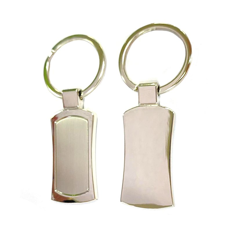 Factory Sale Key Ring Tags Custom Blank Metal Silver Keychain